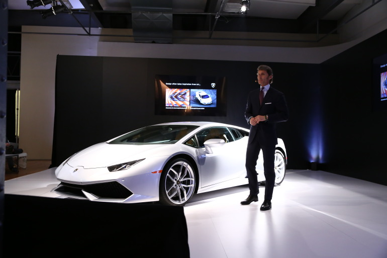 In photos: Lamborghini's NYC Huracan debut - slide 7