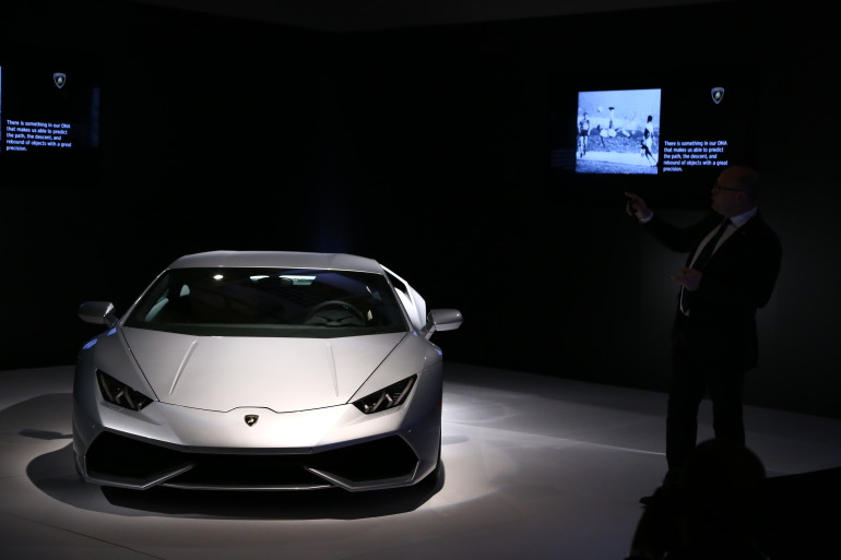 In photos: Lamborghini's NYC Huracan debut - slide 9