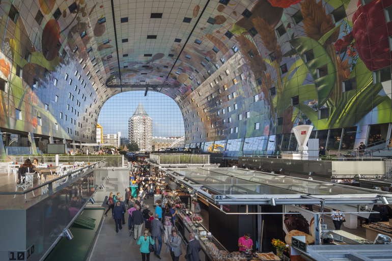 Rotterdam's Dutch person aquarium, MARKET HALL, offers residents a vibrant, diverse mixed-use space - slide 4
