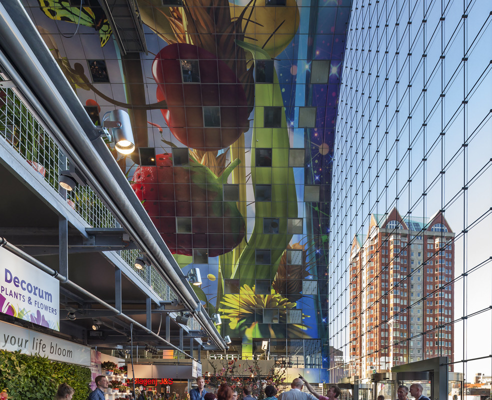 Rotterdam's Dutch person aquarium, MARKET HALL, offers residents a vibrant, diverse mixed-use space - slide 5