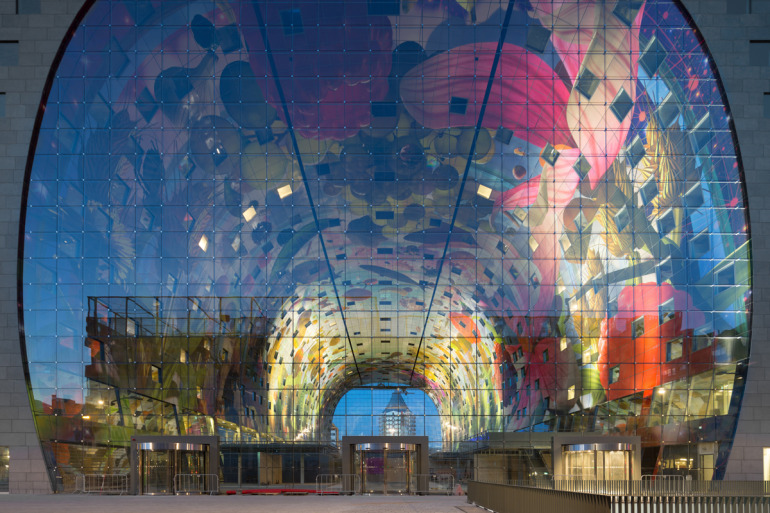 Rotterdam's Dutch person aquarium, MARKET HALL, offers residents a vibrant, diverse mixed-use space - slide 7