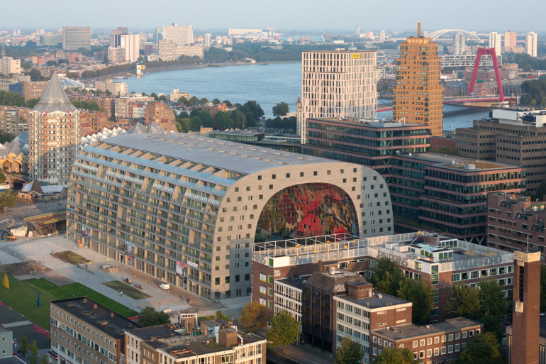 Rotterdam's Dutch person aquarium, MARKET HALL, offers residents a vibrant, diverse mixed-use space - slide 8
