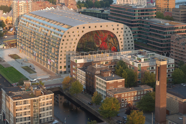 Rotterdam's Dutch person aquarium, MARKET HALL, offers residents a vibrant, diverse mixed-use space - slide 9