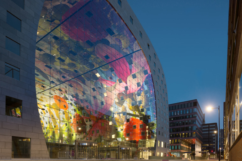 Rotterdam's Dutch person aquarium, MARKET HALL, offers residents a vibrant, diverse mixed-use space - slide 10