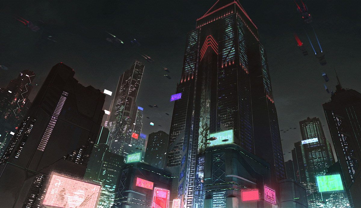 THE ART OF CREATING VISCERAL, CYBER-PUNKISH VIDEO GAME ENVIRONS - slide 10