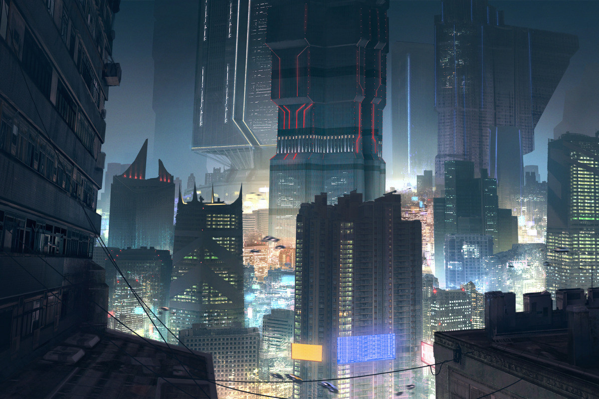 THE ART OF CREATING VISCERAL, CYBER-PUNKISH VIDEO GAME ENVIRONS - slide 8