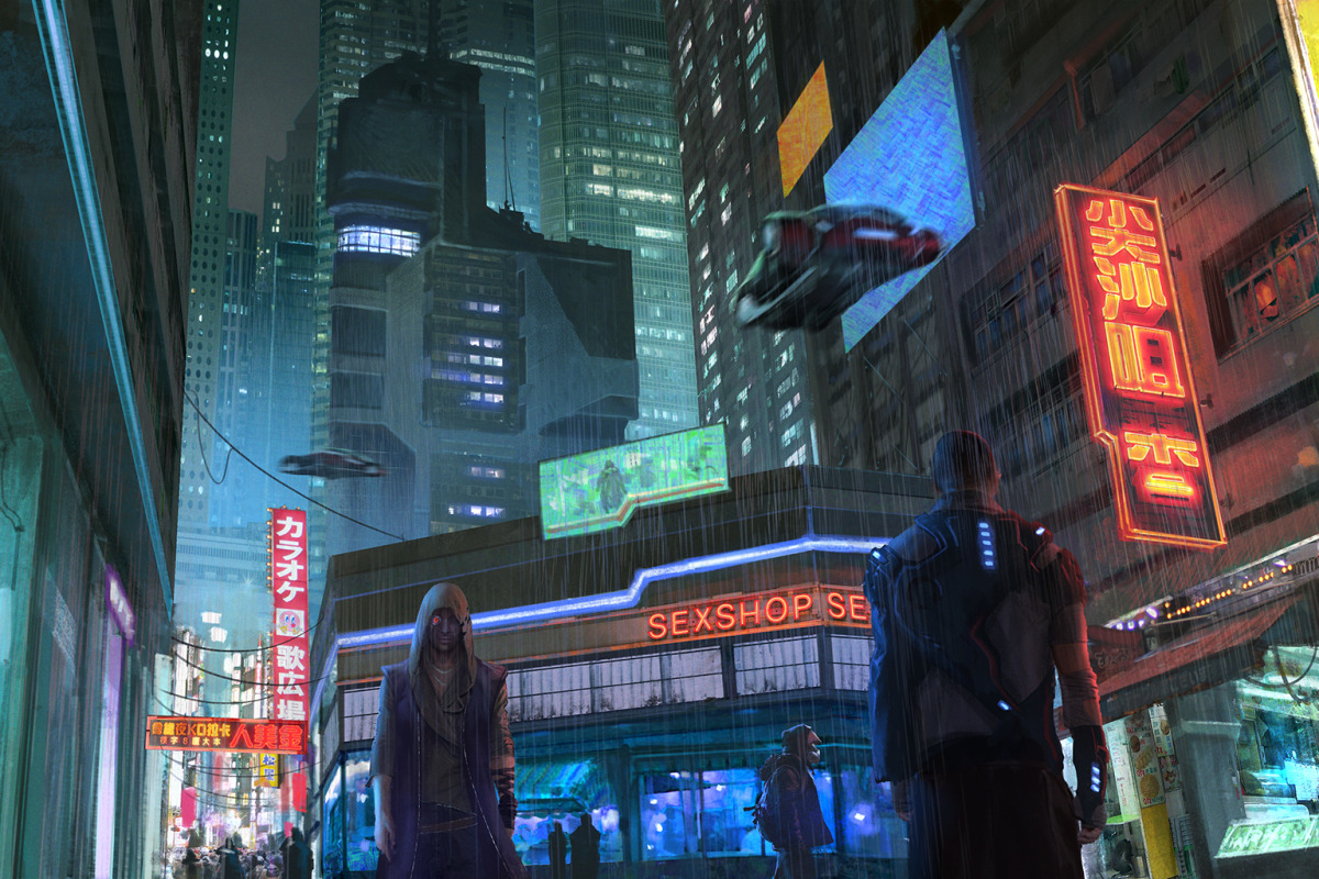 THE ART OF CREATING VISCERAL, CYBER-PUNKISH VIDEO GAME ENVIRONS - slide 2