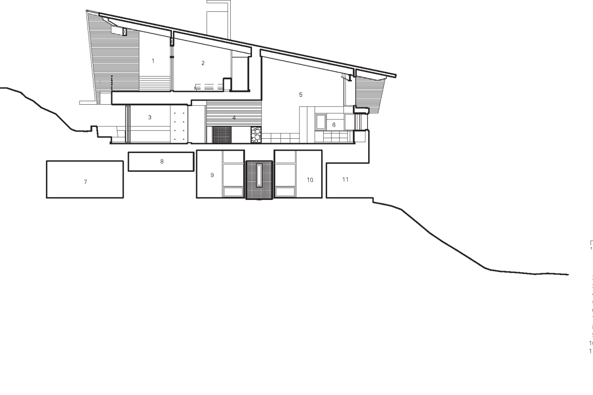 BattersbyHowat Architects' concrete & wood triangular residence hides its massive footprint in plain sight - slide 15