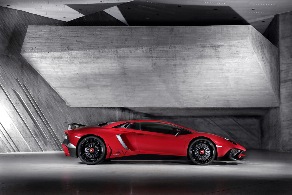 The Aventador LP 750-4 SV is good for 750 hp making it the fastest production Lambo ever