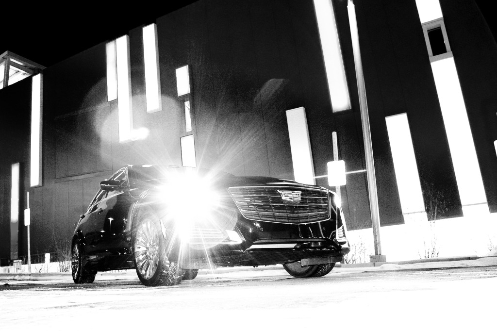 Cadillac's LED lighting & signature angular style treatment at work