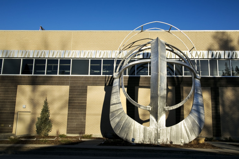 UNDER THE HELMET, the latest addition to Calgary's public art folio - slide 4