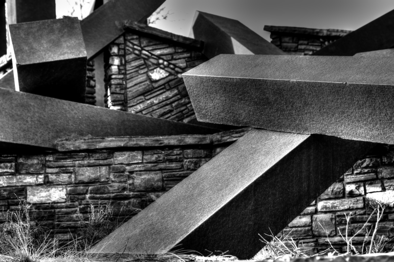 Calgary's River Passage, a mashup of carefully construed beams on the banks of the Bow - slide 6