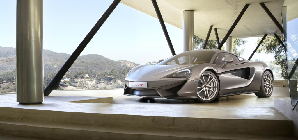570S features new grille & dual purpose intake elemente in doors