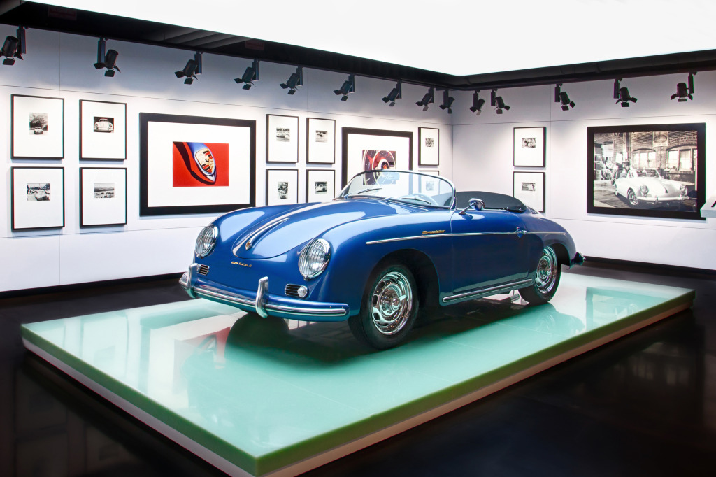 Porsche's new PEC space includes obligatory 356 Spyder