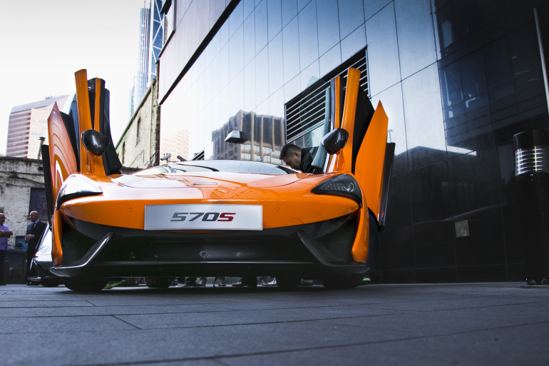 ORANGE CRUSH! McLaren debuts retina-altering 570S in Calgary - slide 12