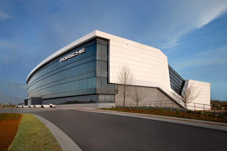 Space by HOK & cars by Porsche, the new $100 million Experience Center opens in Atlanta - slide 1