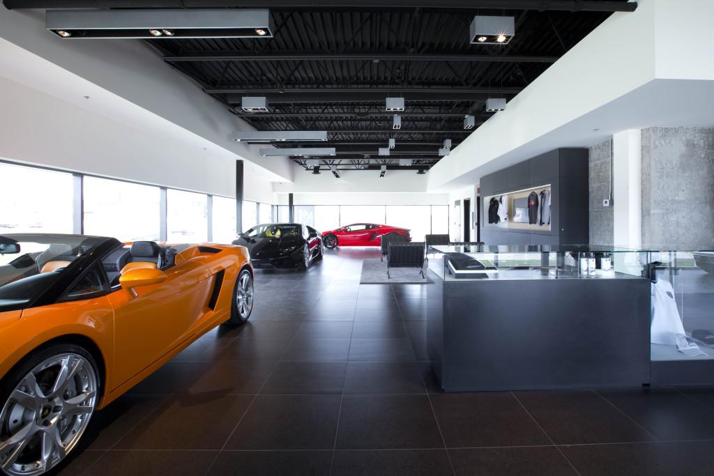 Calgary's new  Lamborghini dealership featuring prime Italian examples