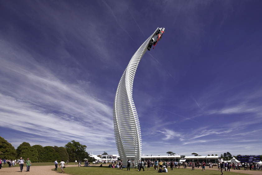 Gerry Judah's Mazda tower twists & rises over Goodwood's 2015 Festival of Speed - slide 2