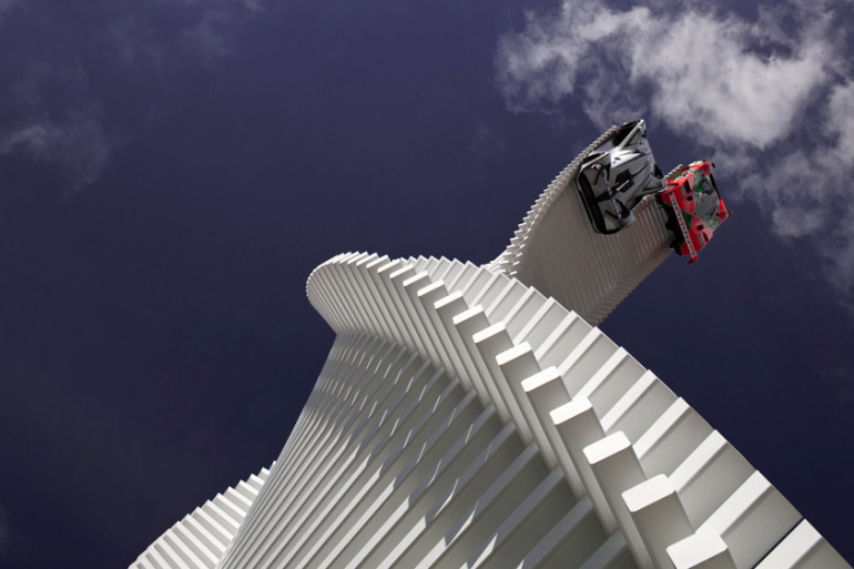 Gerry Judah's Mazda tower twists & rises over Goodwood's 2015 Festival of Speed - slide 3