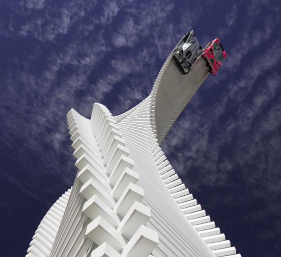Gerry Judah's Mazda tower twists & rises over Goodwood's 2015 Festival of Speed - slide 5