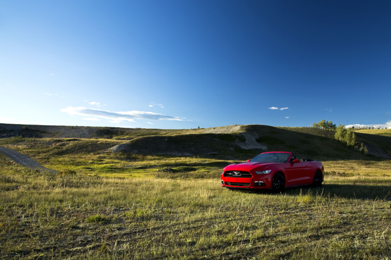 Eco-Stang on the Prairies: Ridin' & drivin' Ford's 50th anniversary ecoboosted ragtop - slide 16
