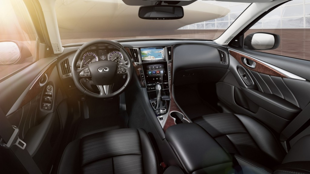 Q50's interior get strong marks for layout and comfort (image. Infiniti)