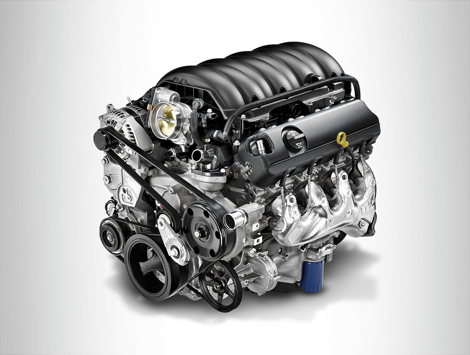 Denali's 6.2L EcoTec3 V8 gas engine is good for 420 horsepower & 460 lb.ft. of torque