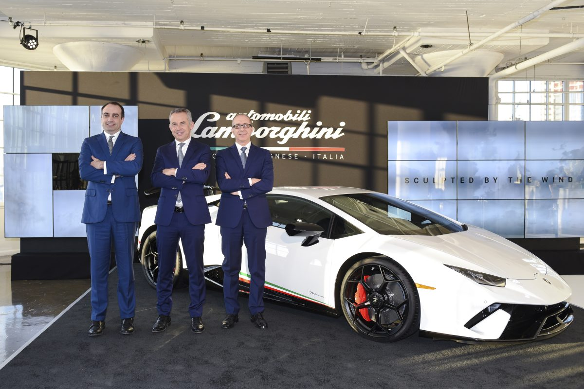Nurburgring record-breaker, Lamborghini's Huracán Performante Makes its North American Debut in New York City