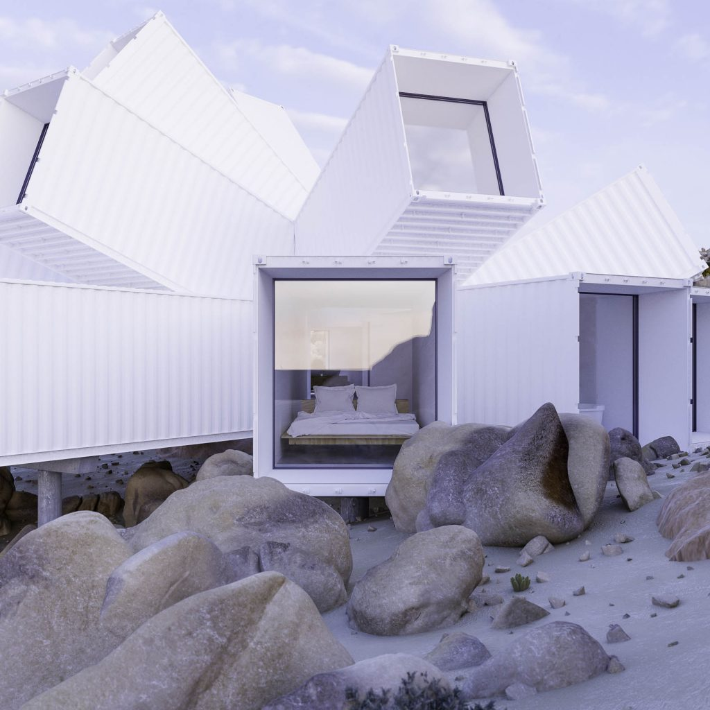 James Whitaker\'s Joshua Tree Residence to erupt shipping containers ...