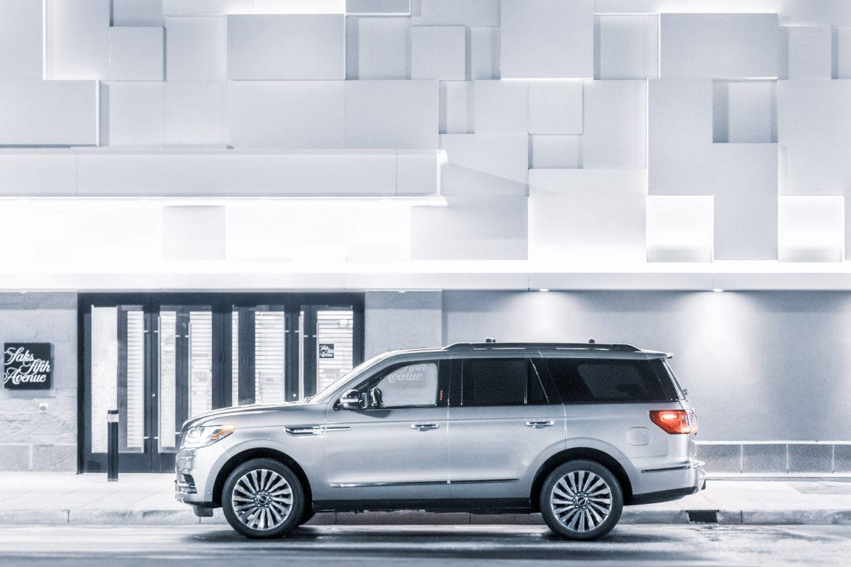Lincoln's 2018 Navigator meets up with John Snow on the road through Winterfelled